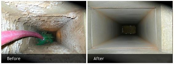 Central Duct Vent Cleaning Reservoir